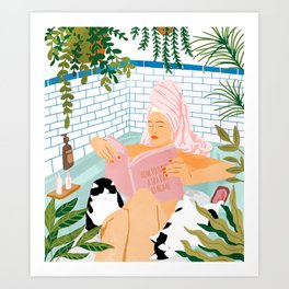 How To Have A Spa Day At Home #illustration Art Print