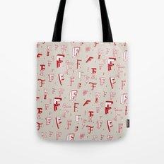 Letter Patterns, Part F Tote Bag