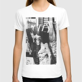 NYC Editorial Collage Black & White T-shirt