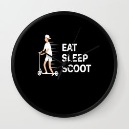 Eat Sleep Scoot Scooter Wall Clock