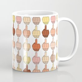 Multicultural Middle Fingers Coffee Mug