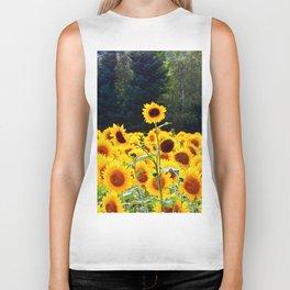 Multi-headed Sunflower Stands Alone Biker Tank
