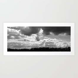 Endless Clouds Art Print