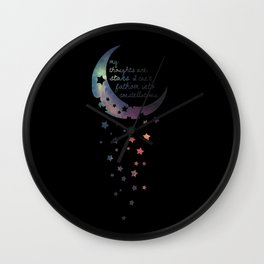 Stars I can't fathom into constellations Wall Clock