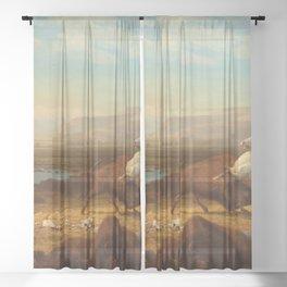 Albert Bierstadt - The Last of the Buffalo Sheer Curtain