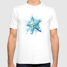 Starfish Waters II MEDIUM White Mens Fitted Tee