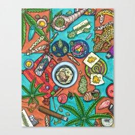 Ocean Grown : Cannabis Altar III Canvas Print