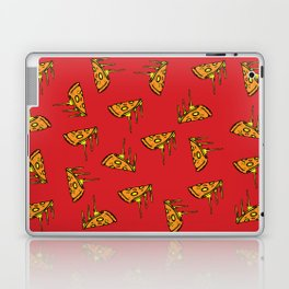 Pepperoni Pizza Dripping Cheese by the Slice Pattern (red) Laptop & iPad Skin
