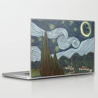 starry night Laptop & iPad Skins featuring starry night by Justin McElroy