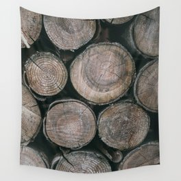 Log Ends Wall Tapestry