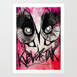 Kvelertak and Skeletonwitch live in Berlin - November 2016 Art Print