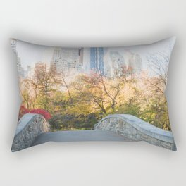 Central Park as the City Wakes Up Rectangular Pillow