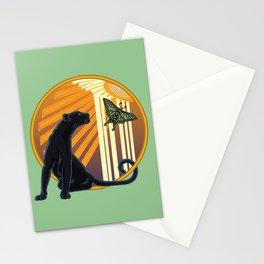 Jaguar Plain Art Deco Stationery Cards