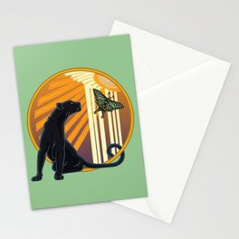 Jaguar Plain Art Deco Stationery Cards