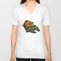 return V-neck T-shirts featuring Return by Stuckey