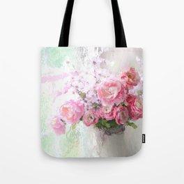 Peonies Impressionistic Tote Bag