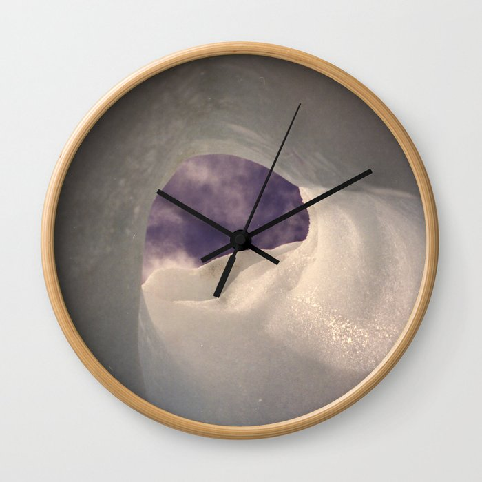 Hole in the ice Wall Clock