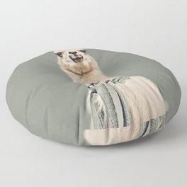Vintage Cold Llama Floor Pillow