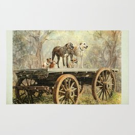 Country Dogs Rug