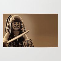 jack sparrow Area & Throw Rugs featuring I am Captain Jack Sparrow by plopezjr