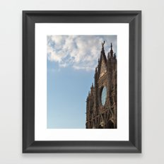Siena cathedral at sunset Framed Art Print