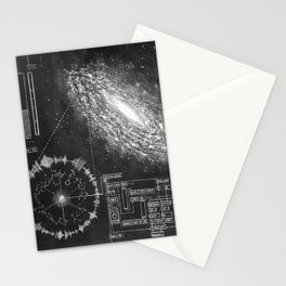 Galaxy and the structure of music! Stationery Cards