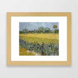 Field with flowers near Arles by Vincent van Gogh Framed Art Print