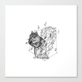 Geometric Season1:4 Squirrel Canvas Print