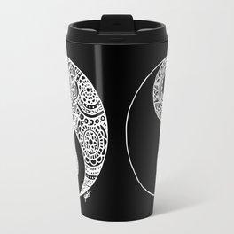 Black and White Lace Yin Yang Travel Mug