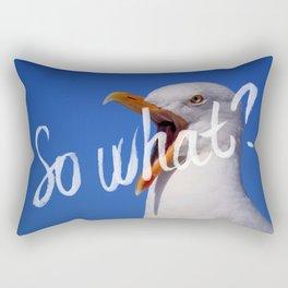 So what? Rectangular Pillow