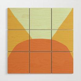 Deyoung Orange Wood Wall Art