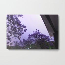 Jacarandas at night by Lightning Metal Print