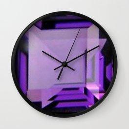 PURPLE FEBRUARY AMETHYST GEMS Wall Clock