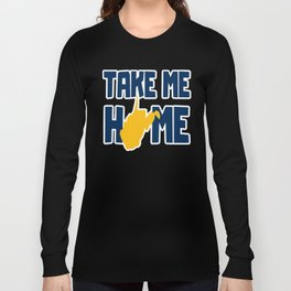 Take Me Home West Virginia State Map Gifts Long Sleeve T-shirt