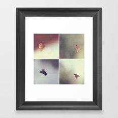 Moth Collage Framed Art Print