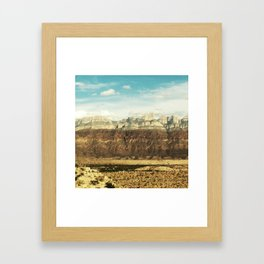 Chisos Mountains at Big Bend Framed Art Print