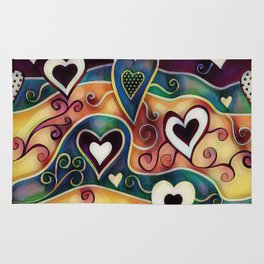 Funky Hearts Rug