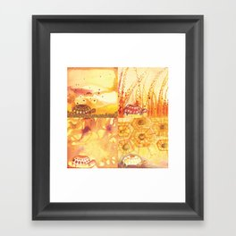 4 Tortoise Framed Art Print