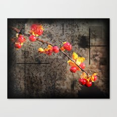 Fields Of Red Berries Canvas Print
