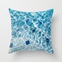 pool Throw Pillows featuring Pool by Britt Mansouri