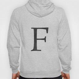 Letter F Initial Monogram Black and White Hoody