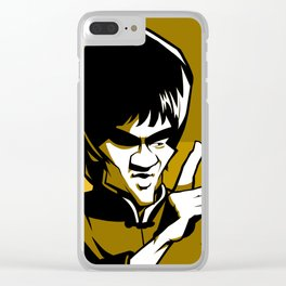 kung fu master yellow Clear iPhone Case