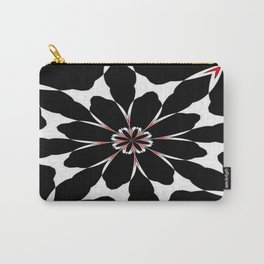 Bizarre Red Black and White Pattern 4 Carry-All Pouch