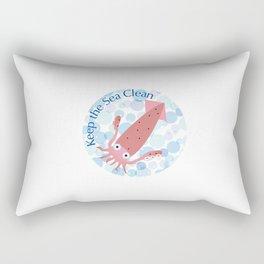 Keep the Sea Clean_Squid Rectangular Pillow