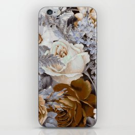 wintery floral iPhone Skin