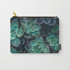 Succulent Blue Green Plants Carry-All Pouch