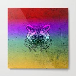 Cool Raccoon Color Metal Print