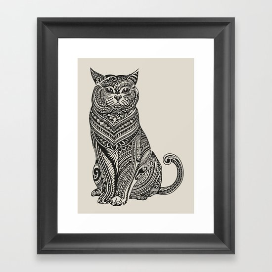 Polynesian British Shorthair cat Framed Art Print by ...