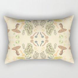 Mushroom Print Rectangular Pillow