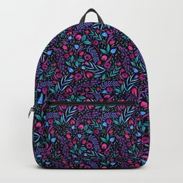Ladybugs In The Garden-Black Backpack